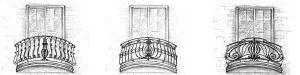 эскизы кованых узоров балконов