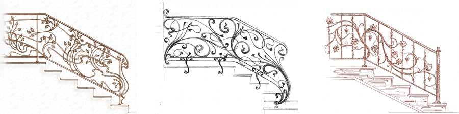 эскизы кованых узоров