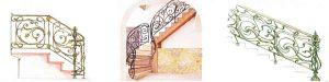 эскизы кованых узоров лестниц в доме